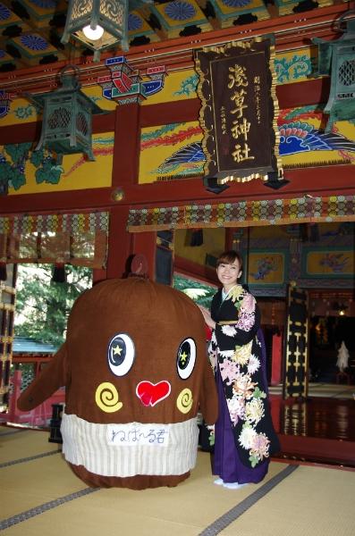 杜このみ&ねば~る君、浅草神社でヒット祈願 杜このみ&ねば~る君、浅草神社でヒット祈願 演歌歌手